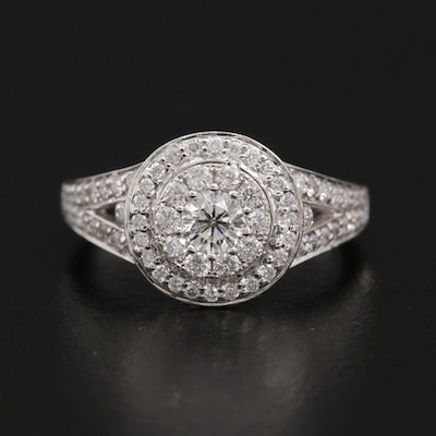 14K White Gold 1.21 CTW Diamond Ring