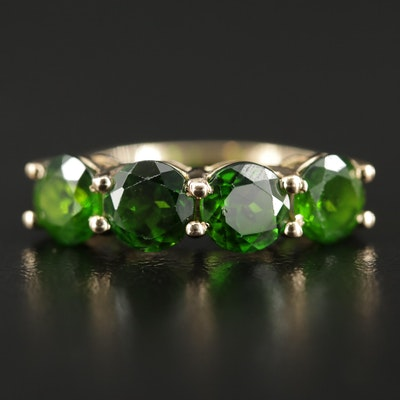 10K Gold Chrome Diopside Ring