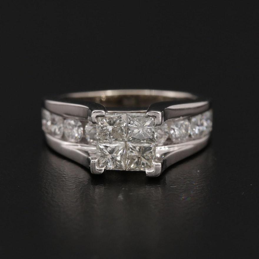 14K Gold 2.50 CTW Diamond Ring