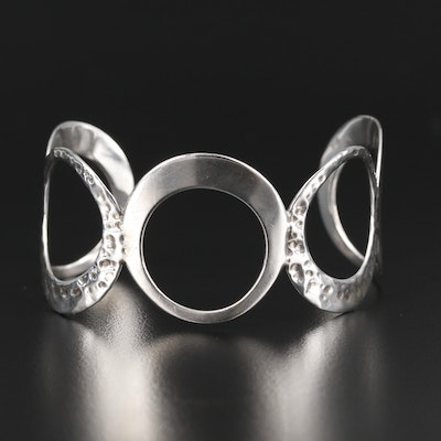 Sterling Silver Open Circle Cuff