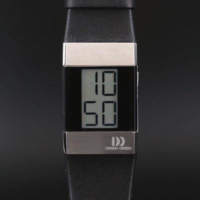 Stainless Steel Danish Design Digital Quartz Wristwatch