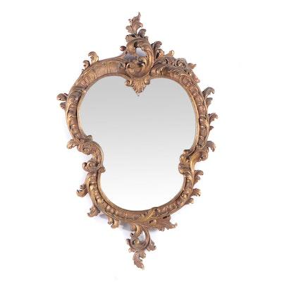 Continental Rococo Giltwood Mirror