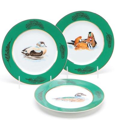 Tiffany & Co. Porcelain Wild Duck Dessert Plates