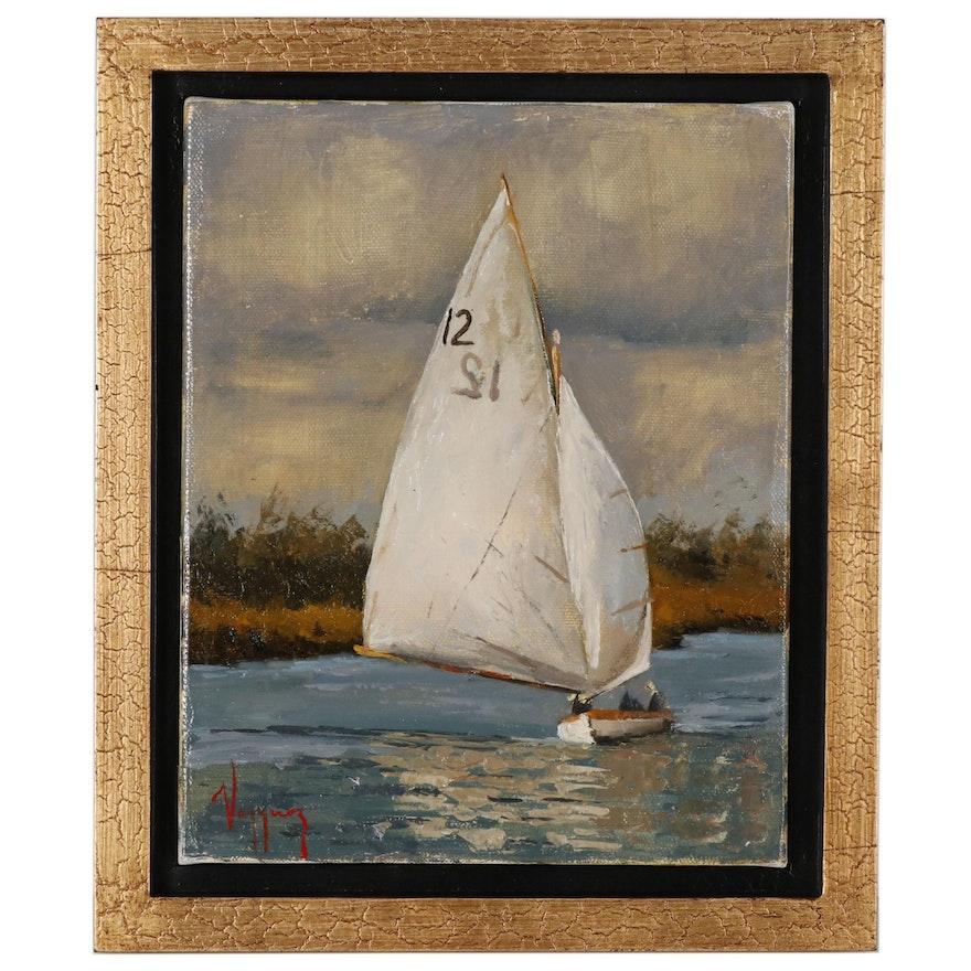 Marco Antonio Vazquez Oil Painting of Sailboat