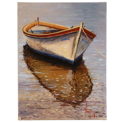 Marco Antonio Vazquez Oil Painting of Boat