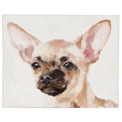 James Coates Oil Painting of Chihuahua