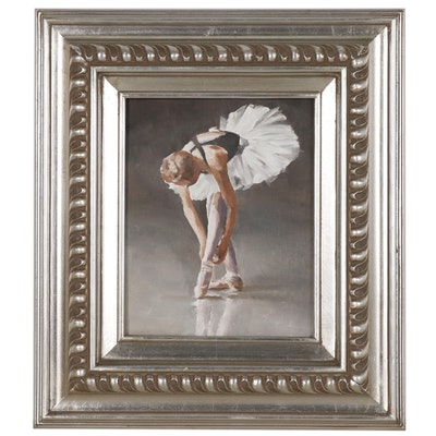 James Coates Oil Painting of a Ballerina