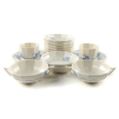 "Rookwood Pottery ""Blue Ship"" Earthenware Dinnerware"
