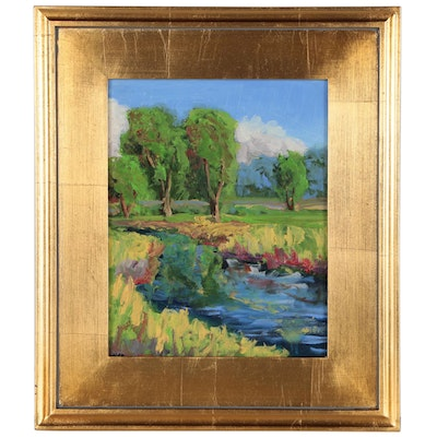 Kenneth Burnside Landscape Oil Painting