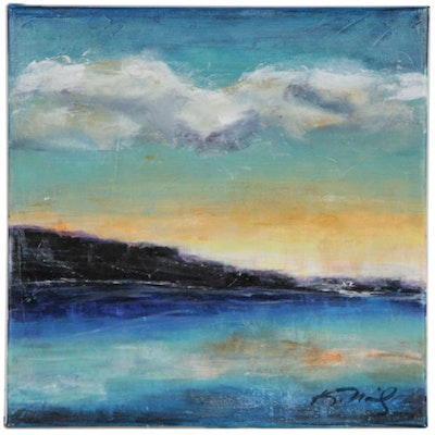 Kelly Naily Oil Painting of a Sunrise