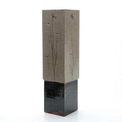 Dennis Kirchmann Art Pottery Sculptural Pedestal