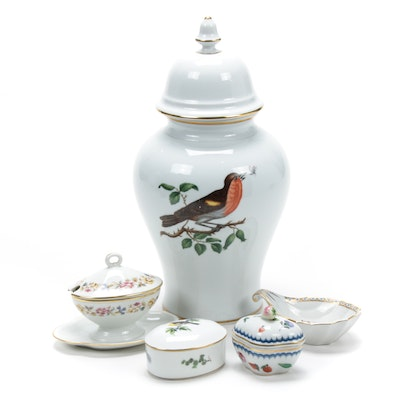 Richard Ginori Porcelain Ginger Jar, Trinket Boxes, and More