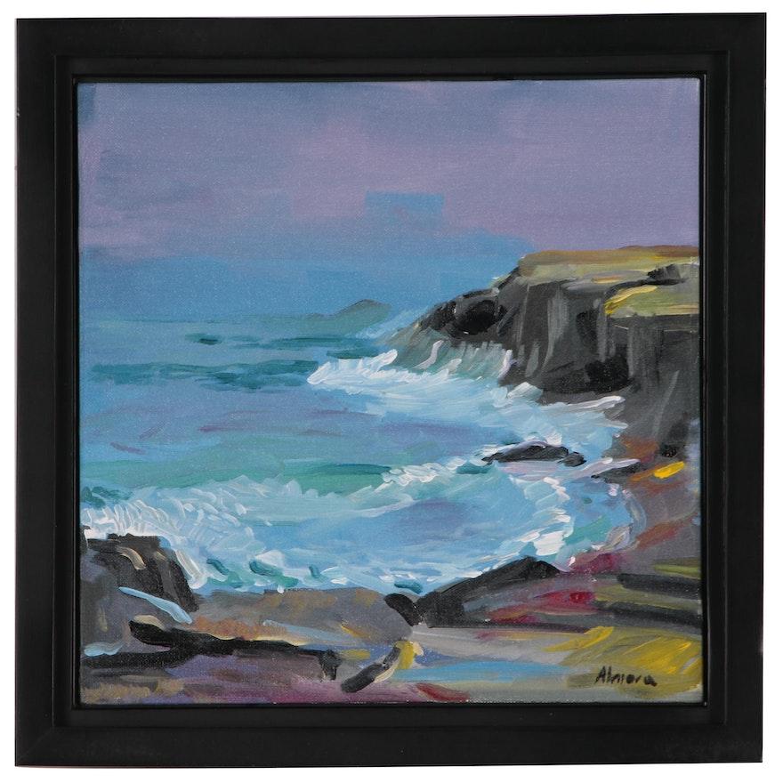 Osmel Almora Oil Painting of a Shoreline