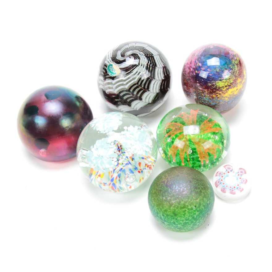 John Gentile and Other Art Glass Paperweights, Late 20th Century