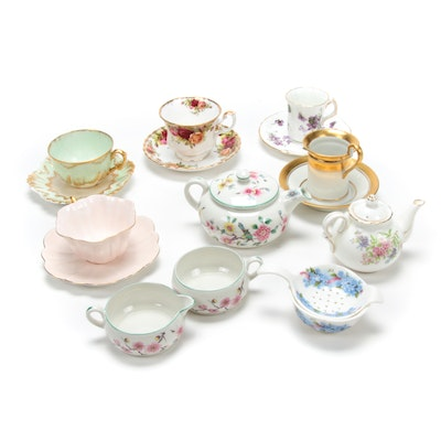 Limoges, Staffordshire, and Other European Porcelain Tea Accessories