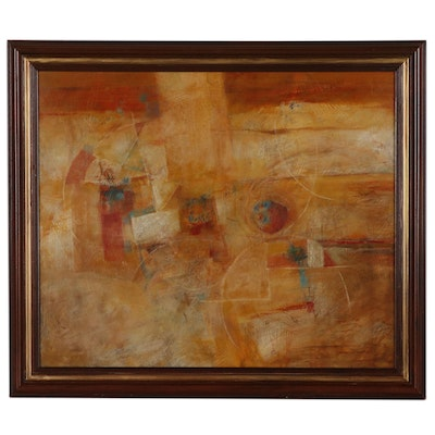 Eugene DeSmith Abstract Expressionist Style Oil Painting