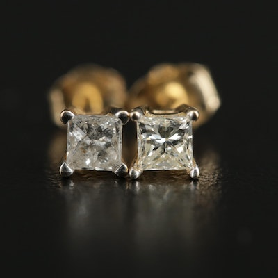 14K Yellow Gold 0.45 CTW Diamond Stud Earrings