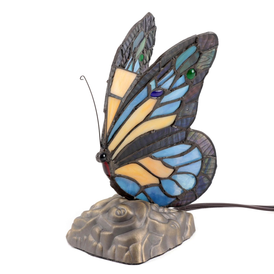 Butterfly Three Settings Touch Base Night Light, Contemporary