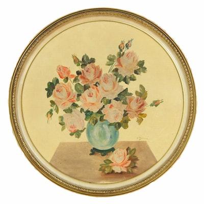 Henri Beau Floral Still Life Oil Painting