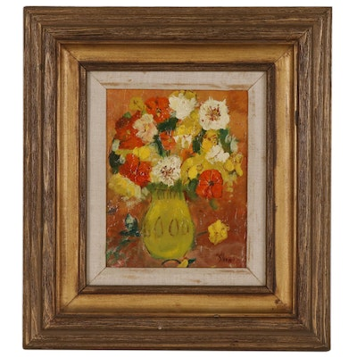 Floral Still Life Impasto Oil Painting