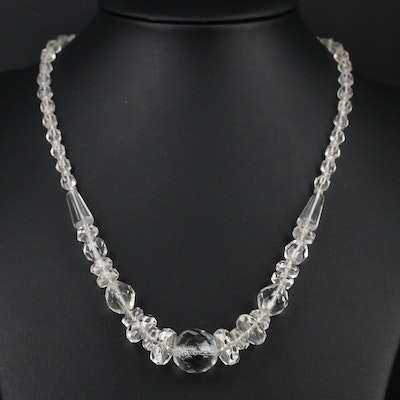 Vintage Graduated Glass Beaded Necklace