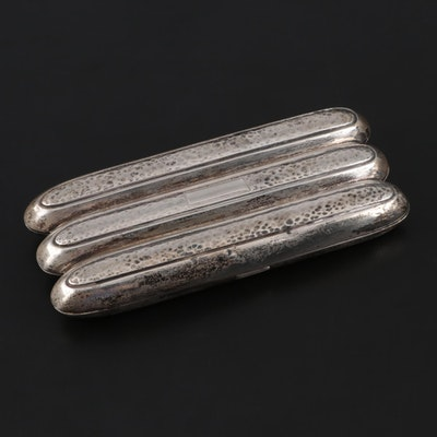 Webster Sterling Silver Cigar Case with Gilt Interior, Early/Mid 20th Century