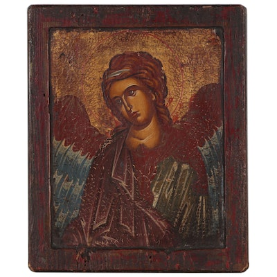 Byzantine Style Icon Painting of Archangel Michael