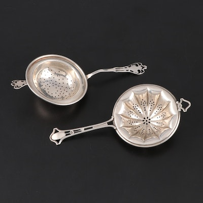 Frank M. Whiting and Watson Sterling Silver Overcup Tea Strainers