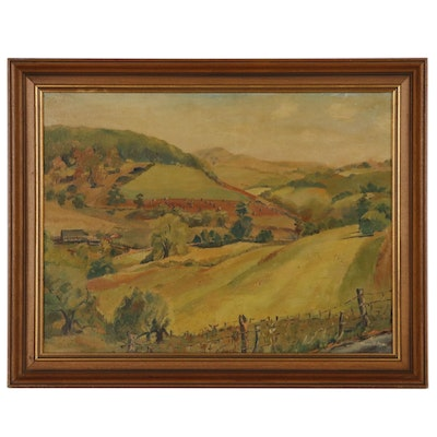 Mary B. Fox Oil Painting of Countryside