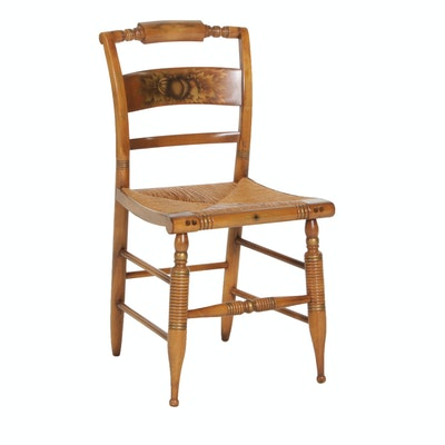 L. Hitchcock Gilt-Stenciled Fancy Side Chair