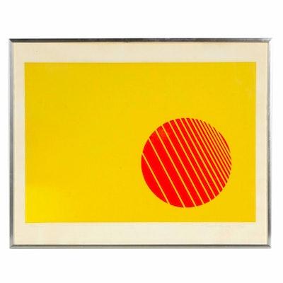 """Jessie D. Aaron Op Art Serigraph """"Motion"""", 1973"""