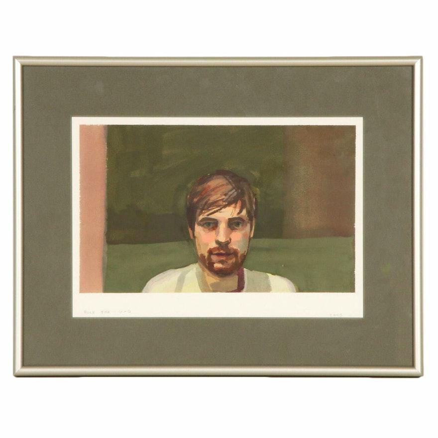 Gouache Portrait of Young Man, 2005