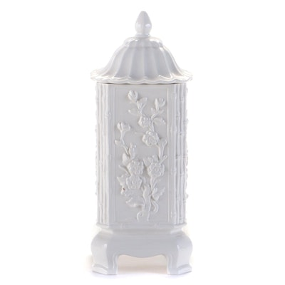 Chinoiserie Blanc de Chine Covered Jar
