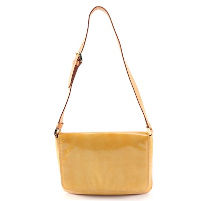 Louis Vuitton Thompson Street Shoulder Bag in Monogram Vernis and Leather