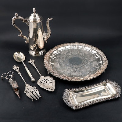 Montagnani, Martin Hall & Co and Other Silver Plate Serveware
