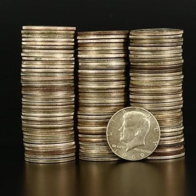105 Kennedy Silver-Clad Half Dollars