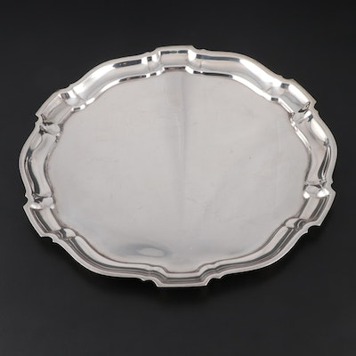 "Poole ""Chippendale"" Sterling Silver Serving Tray, Mid to Late 20th Century"