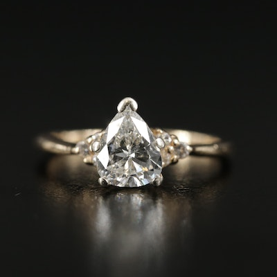 14K Yellow Gold 1.27 CTW Diamond Ring