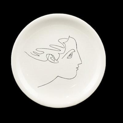 """Pablo Picasso for Salins """"Visage de Femme"""" Ceramic Plate"""