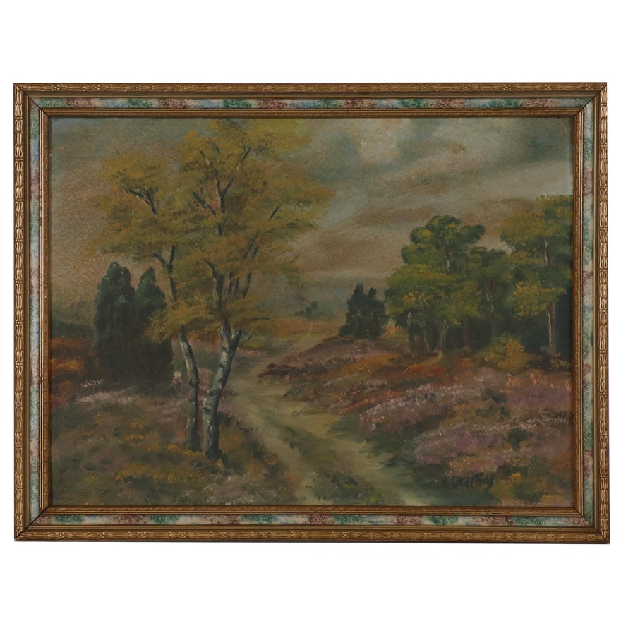 H. Griffiths Landscape Oil Painting