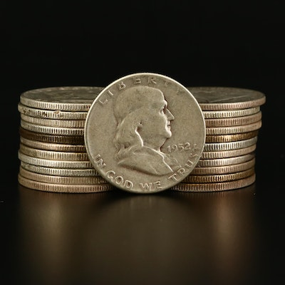 Twenty-Three Franklin Silver Half Dollars