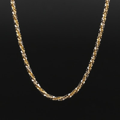 14K Two-Tone Gold Sparkle Chain Necklace