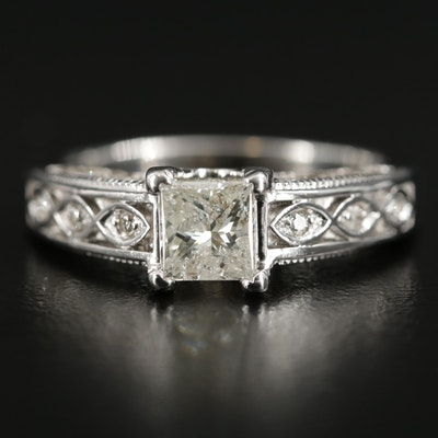 14K White Gold 1.45 CTW Diamond Ring