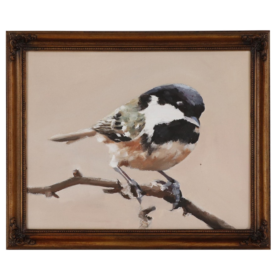 James Coates Oil Painting of a Finch