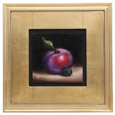 Jane Palmer Still Life  Oil Painting of Fruit