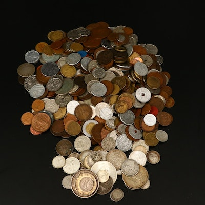 426 Antique to Modern Foreign Coins, Including Many Silver Coins
