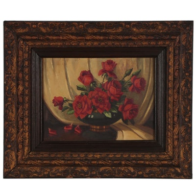 Nell Mosley Floral Still Life Oil Painting