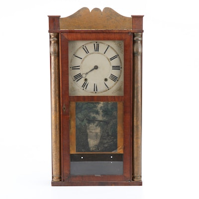 Eli Terry, Jr. Pillar and Scroll Shelf Clock, Mid-19th Century