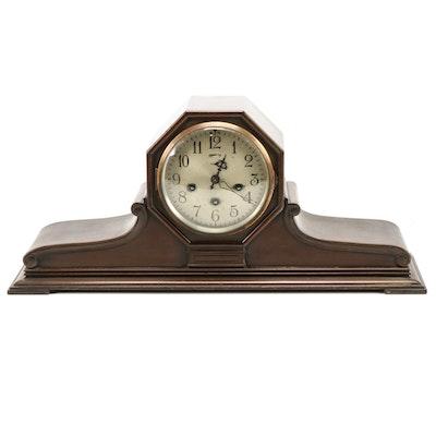 Ansonia Clock Co. Sonia No. 3 Walnut Tambour Mantel Clock, 1920s