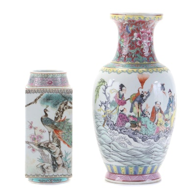 Hand-Painted Chinese Vases
